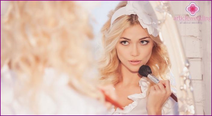 Vorbereitung der Braut vor der Hochzeit