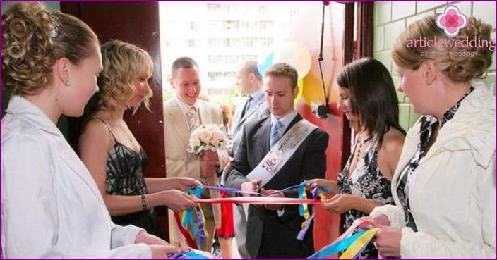 Erlösung der Braut bei einer Hochzeitsfeier