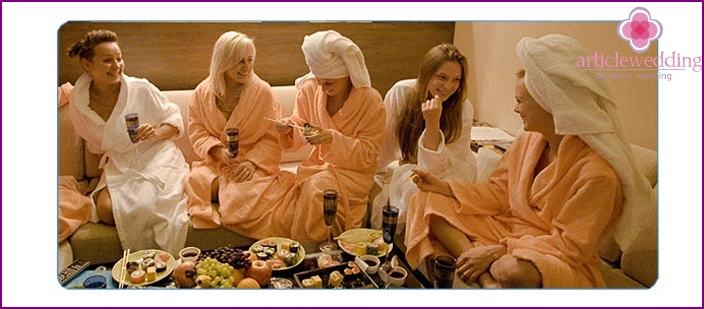 Pleasant gatherings in the sauna with refreshments