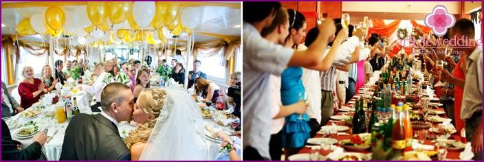 Ein Fest bei einer Hochzeit