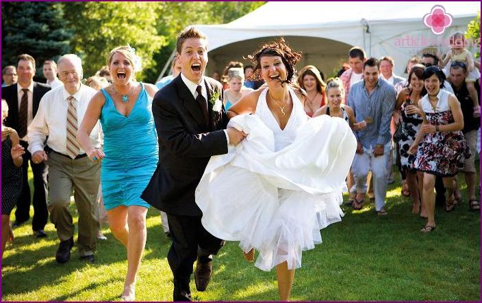 Unterhaltungsprogramm für das Hochzeitsfeier-Skript