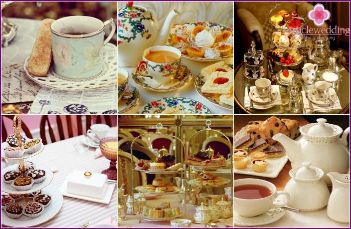 English Style Tea Party Wedding Table