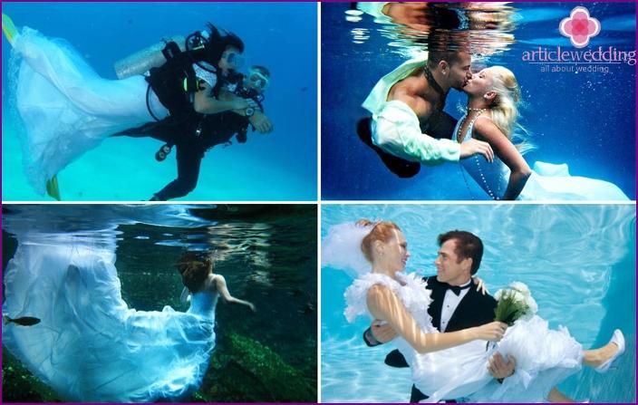 Underwater Wedding Photos