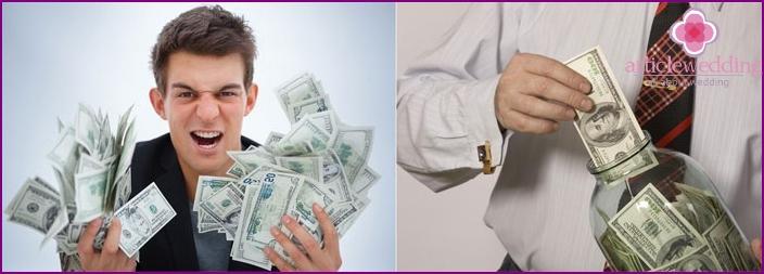 Tulevan aviomiehen suhde rahaan