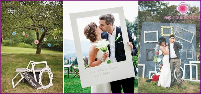 Using frames on a wedding photoset