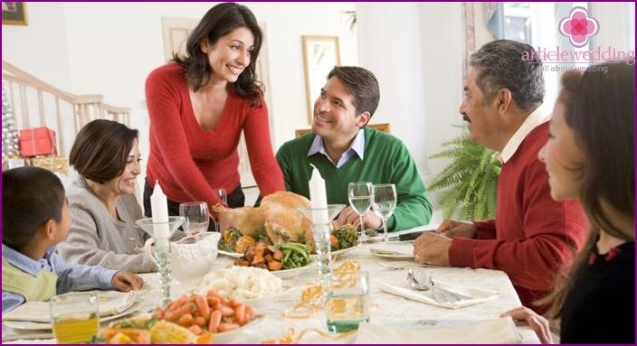 Pleasant acquaintance with parents