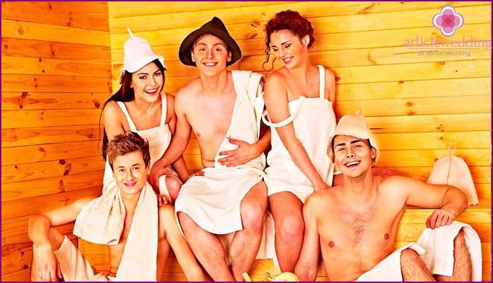 Kampagne in der Sauna