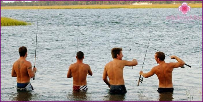 Bachelor party fishing
