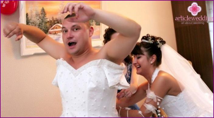 Preparing for a fun ransom bride