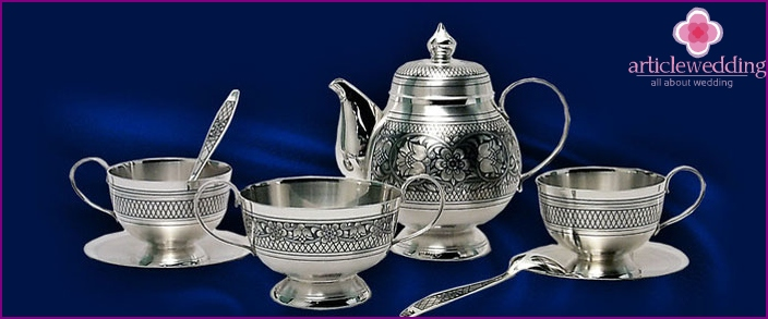 Silver evening tea set