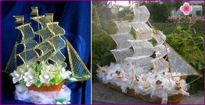 Candy ship for a wedding
