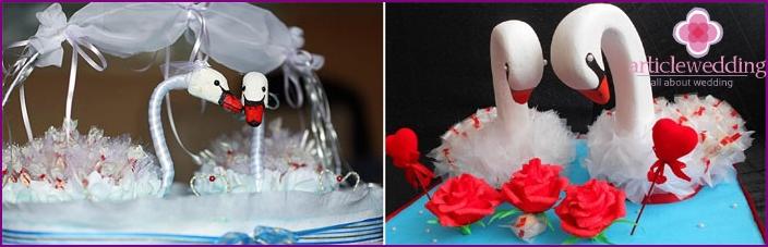 Wedding Arrangement Swans