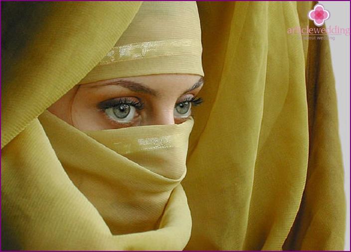 Brautattribut - Hijab
