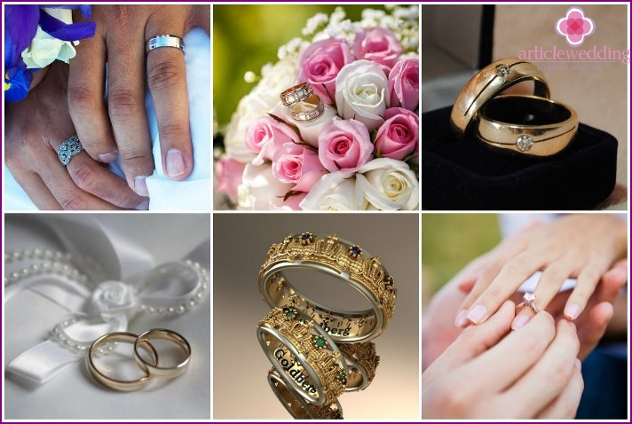 Buying rings for the wedding by the groom