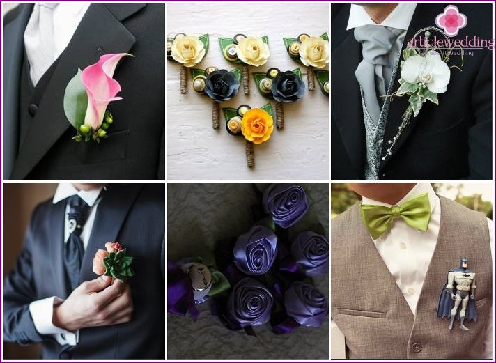 Boutonnieres for himself and the witness are bought by the groom