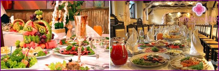 Gerichte für eine italienische Hochzeit