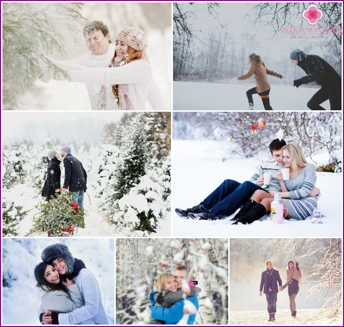 Winter shooting of lovers