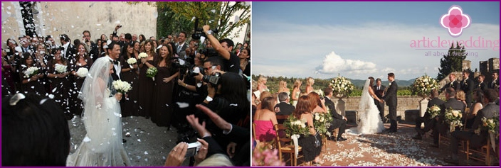 Traditional italian style wedding