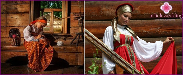 Red wedding outfit - an old Russian custom