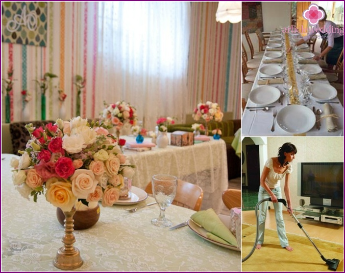Preparing an apartment for a wedding at home