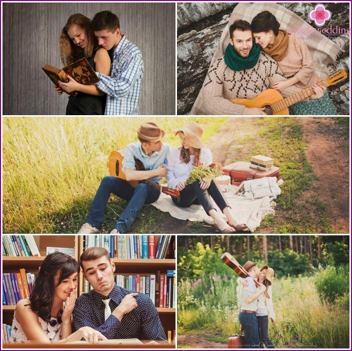 Lovers' hobby photo shoot