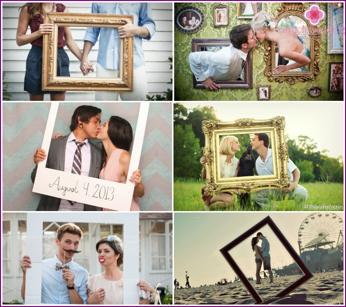 Pre-wedding photography with picture frames