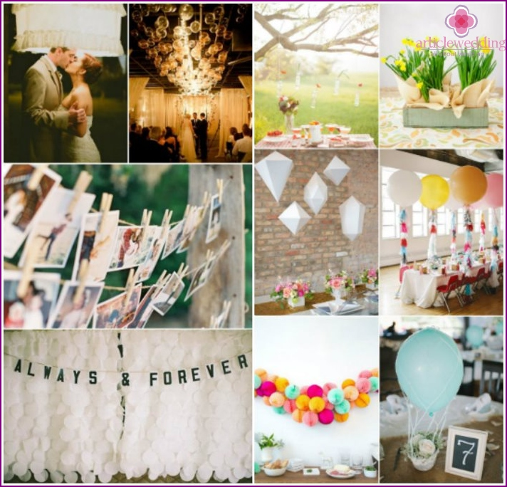 DIY wedding attributes