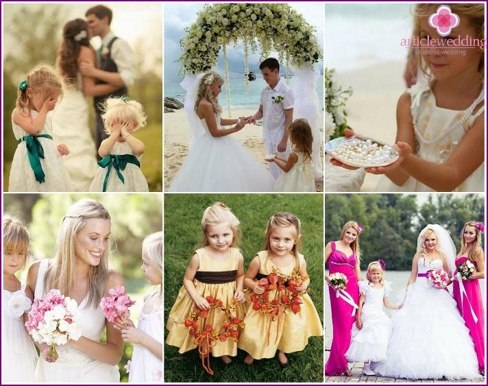 Wedding shooting with children