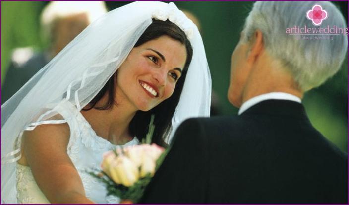 Herzlichen Glückwunsch und Wünsche an die Braut
