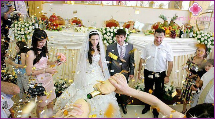 Magnificent wedding of Caucasians