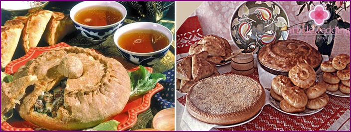 Sweet Tatar dishes for tea drinking