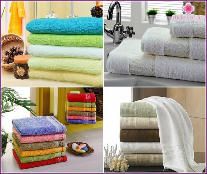 Girl's dowry: bath towels