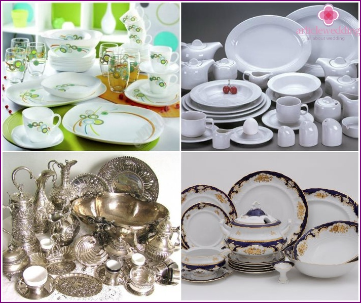 Tableware as a dowry for the bride