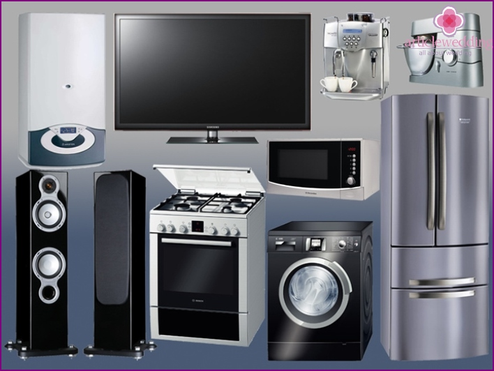 Household appliances as a bride's dowry