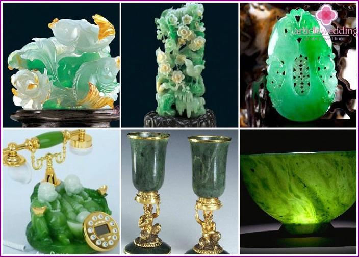 Geschenke von Gästen für eine Jadehochzeit
