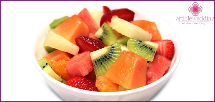 Picnic Wedding Fruit Salad