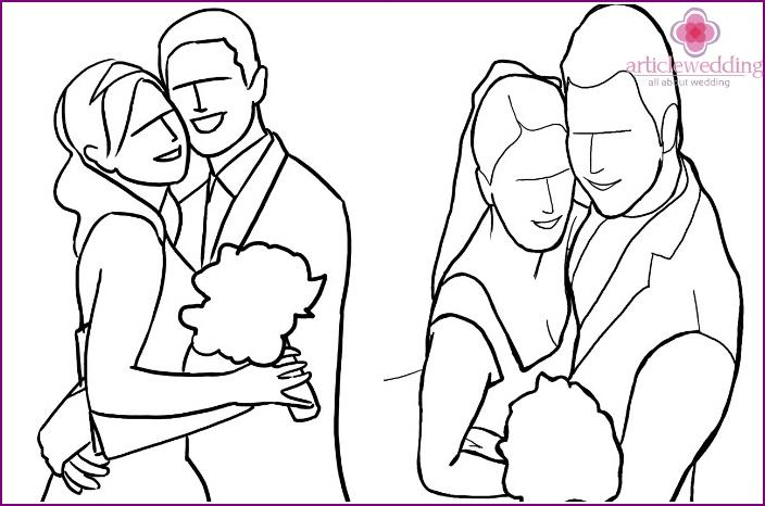 Newlywed Pose: Hugs