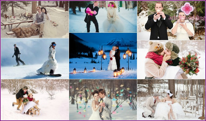 Winter wedding shooting