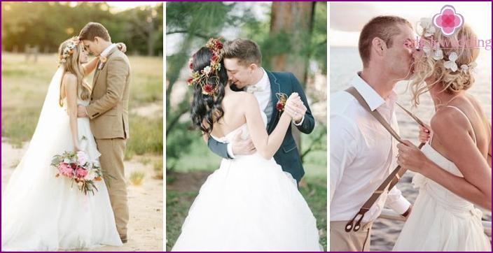 Idea for photo shoot: bride with a wreath