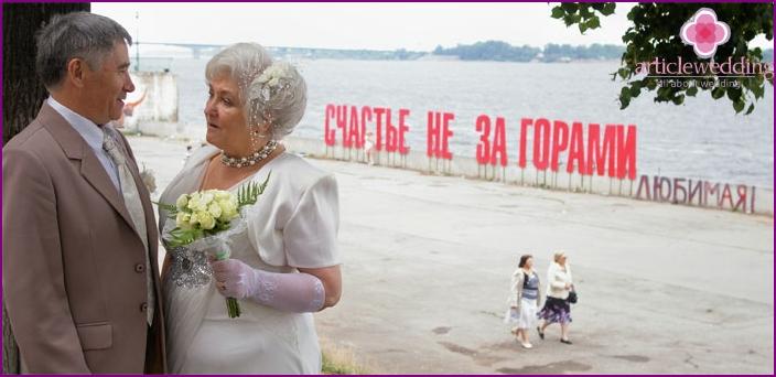 Goldene Hochzeitsfeier