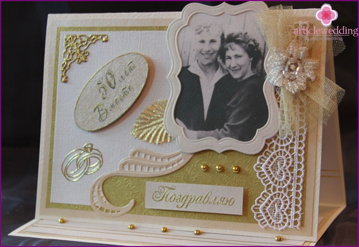 Goldenes Hochzeitsgeschenk