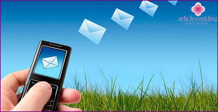 SMS ist eine weitere Möglichkeit, zu Ihrem Jubiläum zu gratulieren
