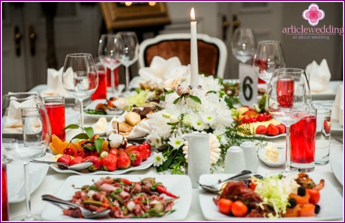 Chic wedding feast