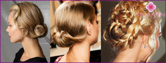 Braid hairstyle with side strand