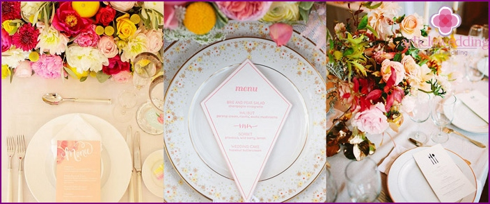 Wedding banquet for loved ones