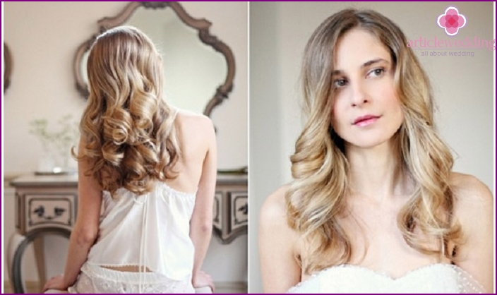 Graceful wave style in the style of old Hollywood