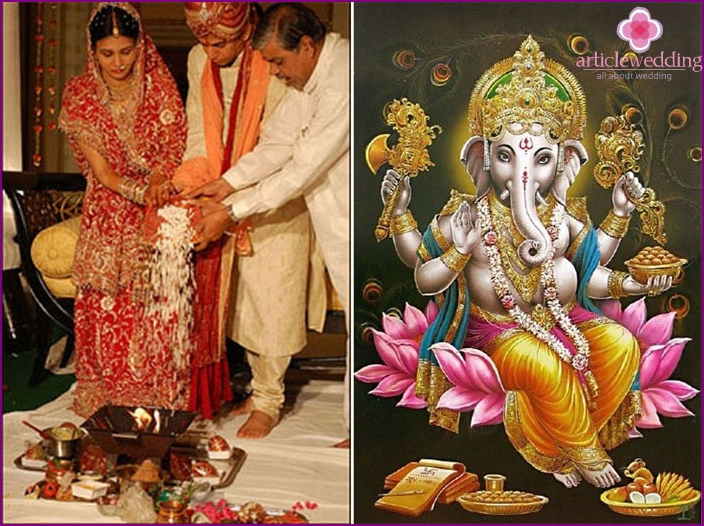 Tradition: worship of the Indian god Ganesha