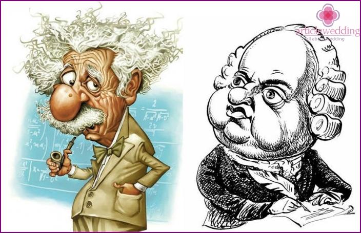 Caricatures of scientists