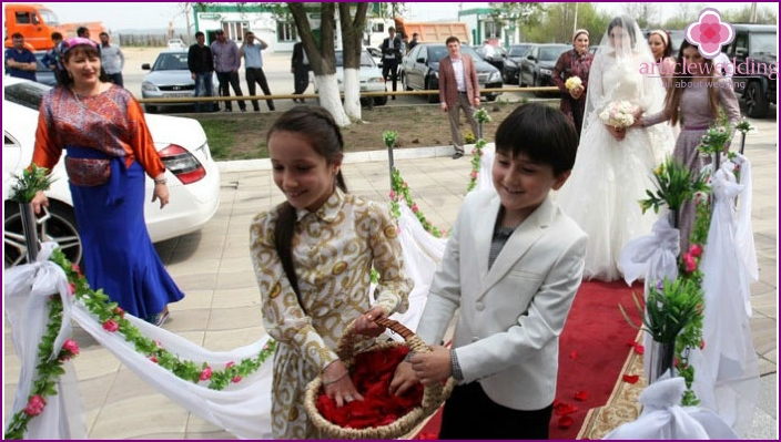 Traditional wedding in Chechnya