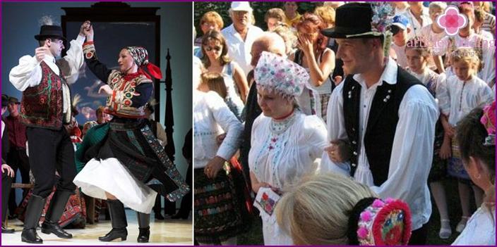 Die Nationalfarbe der ungarischen Hochzeit